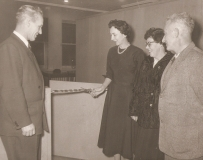 c1960: Cutting the ribbon following renovation of the church office