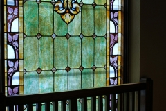 The detail in one stained glass window