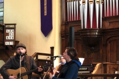 JD Edwards and Cara Luft sing for us